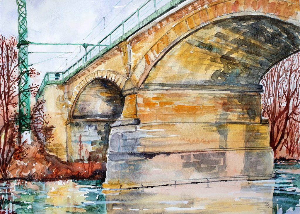 Eisenbahnbrücke Crailsheim