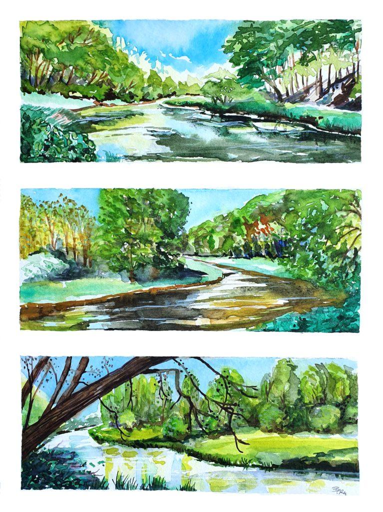Landscapes Jagst River